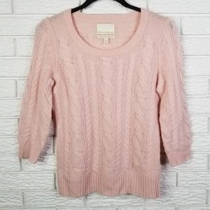 Cynthia Rowley Cashmere Cable-knit Sweater S Pink